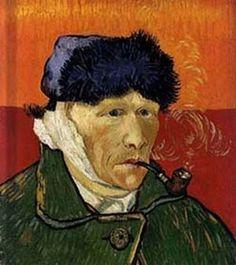 Autoportrait à l'oreille bandée (ou L'Homme à la pipe) est une peinture réalisée à Arles en janvier 1889. Le 23 décembre 1888, dans leur atelier d'Arles, Van Gogh a tenté de blesser Paul Gauguin avant de se trancher le lobe de l'oreille avec une lame de rasoir. Il a offert le morceau de chair à une prostituée. Rapidement rétabli, Van Gogh peint son autoportrait, l'oreille blessée étant pansée par un bandage qui lui entourait le visage. Van Gogh a réalisé deux autoportraits à l'oreille…