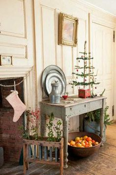 Primitive Christmas with Feather Tree