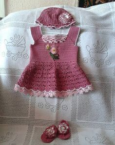  How to crochet : Crochet baby dress  for free  crochet Patterns  19...