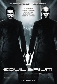 "Dystopian Movies | Equilibrium - ""From the opening scenes Equilibrium pulls you into a claustrophobic dystopian world where people live under constant surveillance and oppression - the world with walls built not just around, but inside people, too. "" >>>Read more here: http://www.explore-science-fiction-movies.com/equilibrium.html#ixzz2W6O7mDtV"