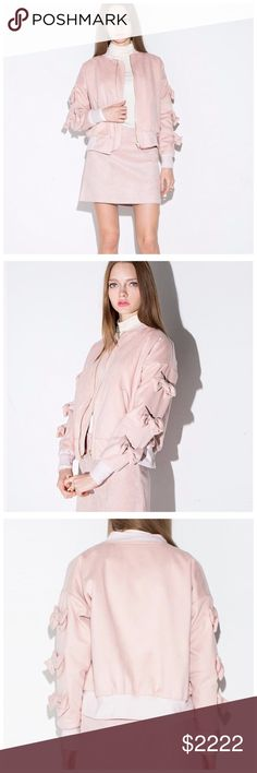 ‼️ COMING SOON Pink Bow Arms Bomber Jacket ‼️‼️ PLEASE LIKE THIS LISTING TO BE NOTIFIED WHEN THEY ARRIVE ‼️‼️ Jackets & Coats