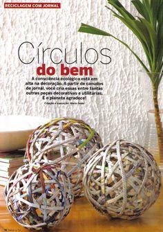 Reciclaje con periódico, bolas de papel - Recycling with newspaper, paper balls