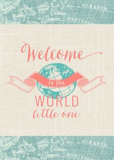 New Baby Boy \'Welcome to the world\' by NikkiWhistonInks on Etsy ...