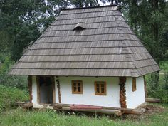A small Romanian house at the Village Museum at Suceava, Romania; photo by CameliaTWU, via Flickr