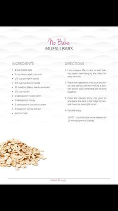Muesli Bars, Rolled Oats, Cake Tins, Sunflower Seeds, Coconut, Pumpkin, Snacks, Baking, Thermomix