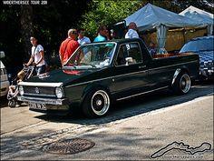Wörthersee Pics: Green Mk1 VW Golf Caddy Pickup truck