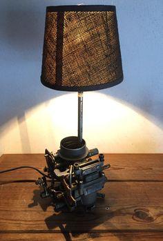 Lampe récup deco loft industriel la carburateur de R5 automobilia par lampesoriginales sur Etsy https://www.etsy.com/fr/listing/542691607/lampe-recup-deco-loft-industriel-la