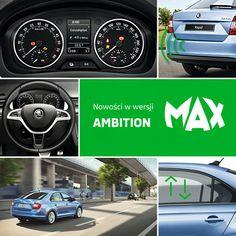 SKODA Rapid wersja Ambition  Czujniki parkowania i wielofunkcyjna skórzana kierownica w standardzie