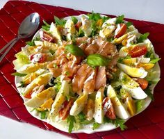Shrimp Ceviche With Avocado, Good Food, Yummy Food, Cooking Recipes, Healthy Recipes, Vegetable Salad, Calories, Pasta Salad, Salad Recipes