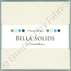"Moda Bella Solids Natural 9900-12 Charm Pack 42 5"" (12.7cm) Quilt Squares"