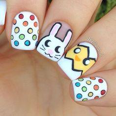 Super cute easter nail art
