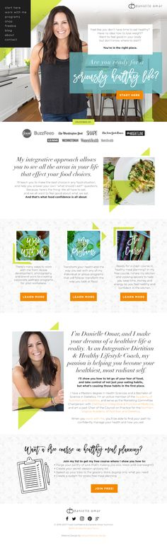 Danielle Omar: Food Confidence: Website Design