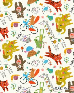 Print #1 'Happy Town' collection by Abi Hall