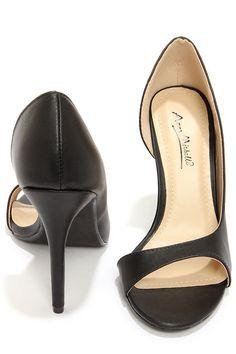 441036c25 Anne Michelle Rapture 89 Black D Orsay Heels