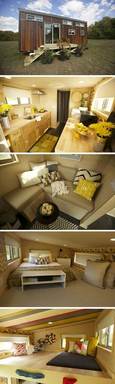 The Z Huis from Wishbone Tiny Homes. A 204 sq ft home on wheels powered by solar panels.