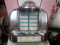 I always wanted a 50s style diner booth in my kitchen - and how could it be complete without one of these!