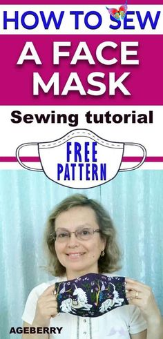 How to sew a fabric face mask plus a free face mask pattern This is a video sewing tutorial on how to sew a face mask from fabric. You will find a free sewing pattern for your own face mask. DIY fabric face mask is an easy sewing project even for a beginner sewist.  #sewingtutorials #sewingprojects #howtosew #sewingforbeginners<br> This is a video sewing tutorial on how to sew a face mask from fabric. You will find a free sewing pattern for your own face mask. The DIY face mask is an easy… Easy Sewing Projects, Sewing Projects For Beginners, Sewing Tutorials, Sewing Hacks, Sewing Tips, Tutorial Sewing, Diy And Crafts Sewing, Hair Tutorials, Sewing Ideas