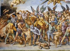 Detail of The Damned in Hell by Luca Signorelli