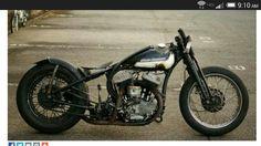 Harley Flathead bobber