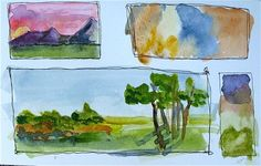 great free watercolor lessons by Diana Trout; Watercolor Sampler 2