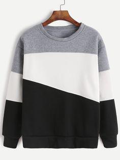 Light Grey Contrast Casual Sweatshirt — 0.00 € ------------------color: Multicolor size: L,M,XL,XXL