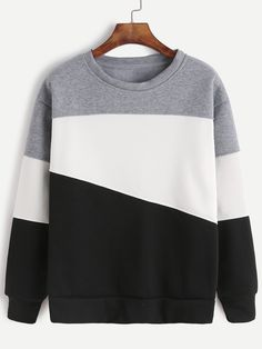 Shop Light Grey Contrast Casual Sweatshirt online. SheIn offers Light Grey Contrast Casual Sweatshirt & more to fit your fashionable needs.