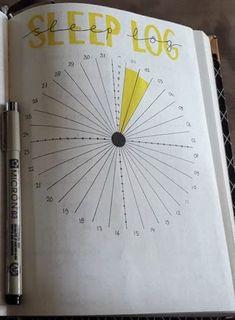 Sleep log in bullet journal