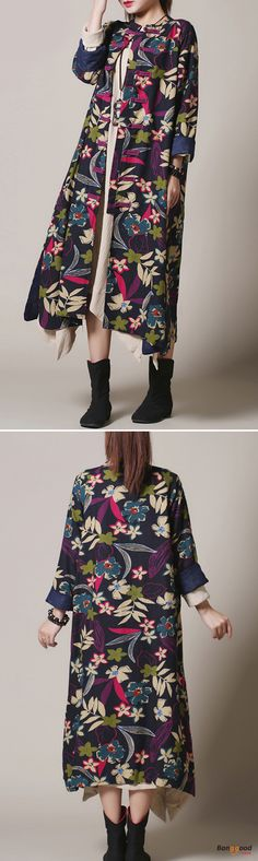 US$36.99 + Free shipping. Size: S~L. Fall in love with fashion and casual style! Vintage Women Floral Printed Cardigans.