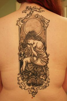 nouveau ink - extremely similar to the one I have on my ribcage