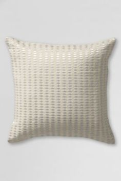 Embroidered Lurex Decorative Pillow Cover from Lands' End