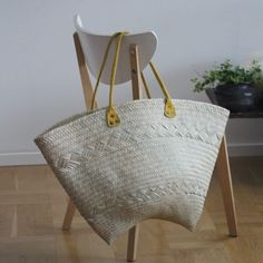 Woven basket bag....ideal for summer getaways or a  nifty shopping bag and great for storing scarves and accessories.