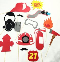 Hey, I found this really awesome Etsy listing at https://www.etsy.com/listing/249185716/firefighter-photobooth-prop-set
