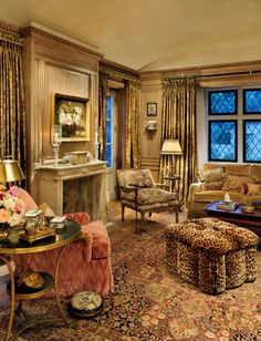~has a warm, cozy feel ~ Linda Floyd, ASID, California Certified Interior design ideas interior design decorating Cottage Living Rooms, Home Living Room, Living Spaces, Cottage House, English Decor, Elegant Homes, Dream Rooms, Traditional House, Traditional Design