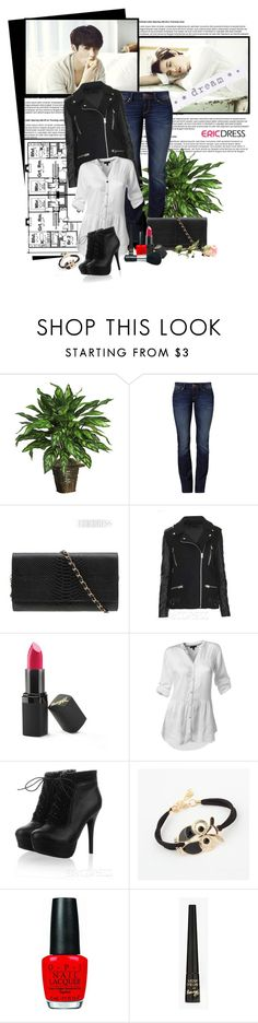 """""""Sleepy Dreams"""" by polybaby ❤ liked on Polyvore featuring Nearly Natural, Mavi, Barry M, OPI and Laura Mercier"""
