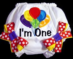 Birthday balloon bloomers by Whimsy Tots Boutique