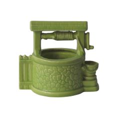 Green Ceramic Wishing Well Planter Country Cottage Bedroom, Wishing Well, Cozy Bedroom, Watering Can, Planters, Ceramics, Green, Cozy Dorm Room, Ceramica