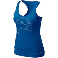 6c830eb2a6d54 Nike Detroit Lions Women s Big Logo Tri-Blend Tank - Royal Blue ( 30)