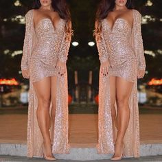 2PCs Strapless Sequins Caged Mini Dress with Cardigan