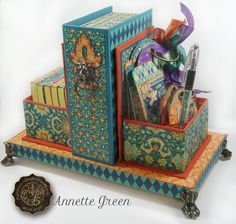 Midnight Masquerade card and tag station by Annette Green for Graphic 45