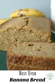 Perfectly dense, incredibly moist and oh, so tender is how you would describe this banana bread.  This recipe will be your go to favorite from now on! via @homesteadhippy
