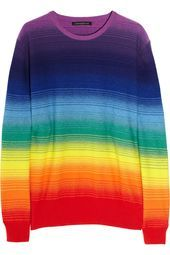 Rainbow Cashmere Sweater by Christopher Kane. Rainbow Cashmere Sweater by Christopher Kane. Christopher Kane, Blue Sweaters, Cashmere Sweaters, Rainbow Outfit, Rainbow Clothes, Pride Outfit, Gay Outfit, Lgbt, Rainbow Sweater