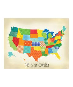 Take a look at this 'This is My Country' USA Map Print by Ellen Crimi-Trent on #zulily today!