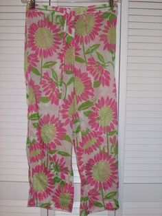 Lilly Pulitzer Sleep Pants Size Small Sheer Pink Floral Pajama Bottoms Lounge #LillyPulitzer #LoungePantsSleepShorts