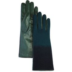 Echo Ombre Leather Tech Gloves ($77) ❤ liked on Polyvore featuring accessories, gloves, перчатки, leather palm gloves, leather gloves, echo gloves, cashmere-lined leather gloves and lined gloves