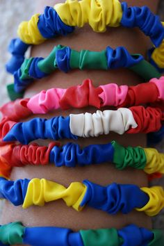 DIY- Make Your Own Balloon Bracelets-elastic, balloons- a great party favor or activity at church, school or home!