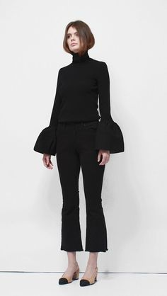 SHOP: Etre bell sleeve turtleneck, Loéil; $128 @stylecaster