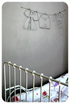 wire nursery mobile wall hanging