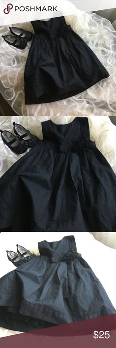 Gymboree Party Dress 12-18 Months Black Gymboree Black Dress Excellent USED condition worn once or twice, Black dress shoes NOT included sold separetly if you want to buy together I can give it to you discount feel free the give me best offer Gymboree Dresses Formal