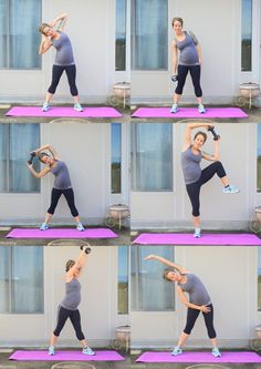 Diary of a fit mommy. 8 Moves to work your love handles during #pregnancy. #Exercise
