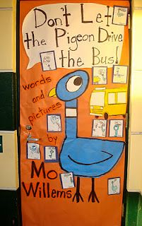 These stories by Mo Willems is a great way to teach persuasive writing to younger writers. Other are don't let the Pigeon stay up late. Classroom Door, Future Classroom, Classroom Organization, Classroom Ideas, Classroom Displays, Reading Workshop, Writer Workshop, Kindergarten Door, Preschool Bulletin